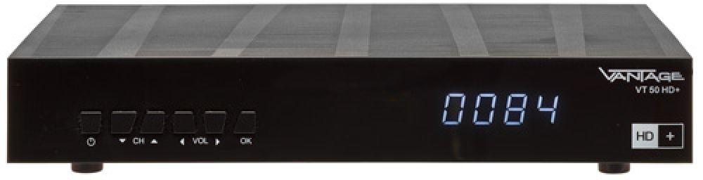vantage vt 50 sat receiver hdtv 12 monate hd karte usb hdmi schwarz c ware ebay. Black Bedroom Furniture Sets. Home Design Ideas
