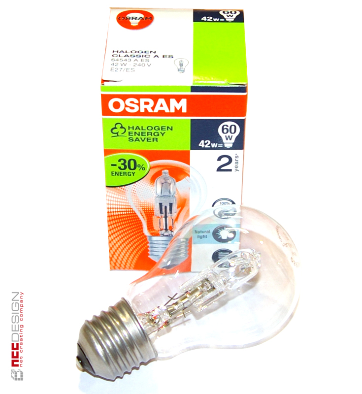 10 x osram halogen eco gl hbirne 42w 60w e27 gl hlampe klar energiesparlampe ebay. Black Bedroom Furniture Sets. Home Design Ideas