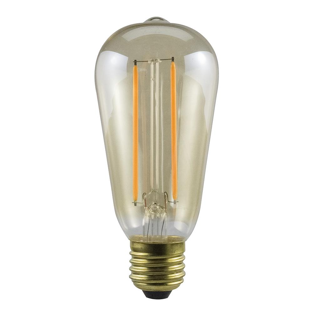 led rustika filament edison gl hbirne 2w e27 gold extra. Black Bedroom Furniture Sets. Home Design Ideas