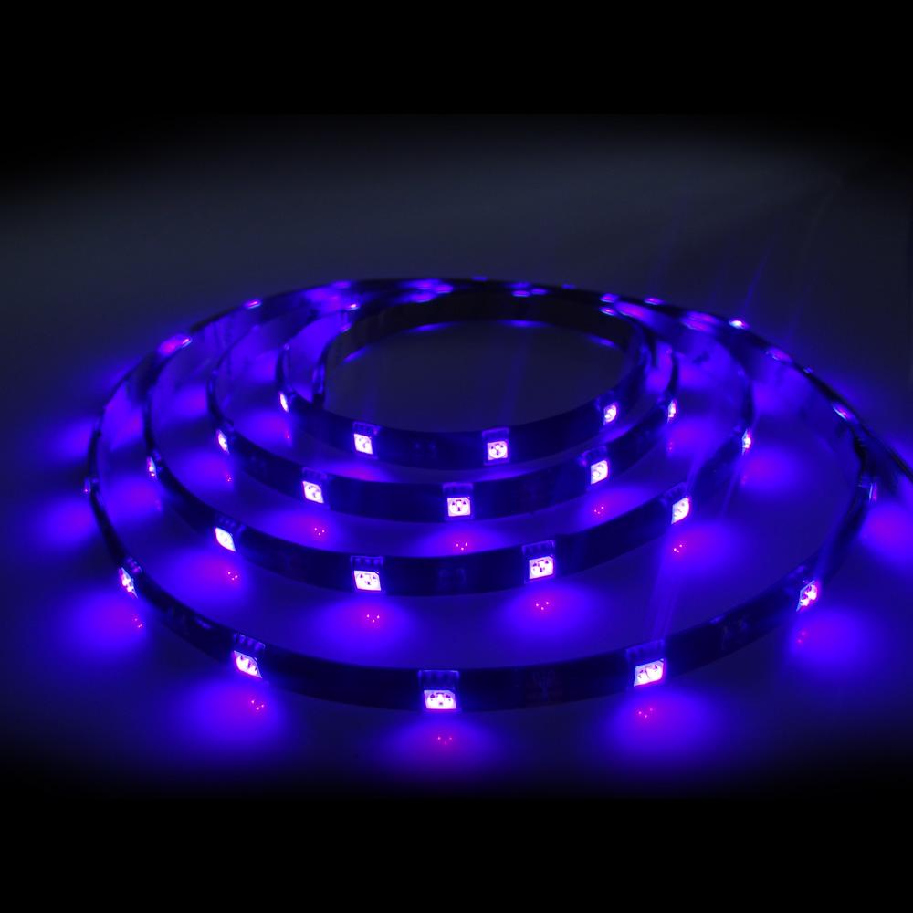 led strip schwarzlicht 5050 5m 150 leds uv ip54 komplettset netzteil blacklight ebay. Black Bedroom Furniture Sets. Home Design Ideas