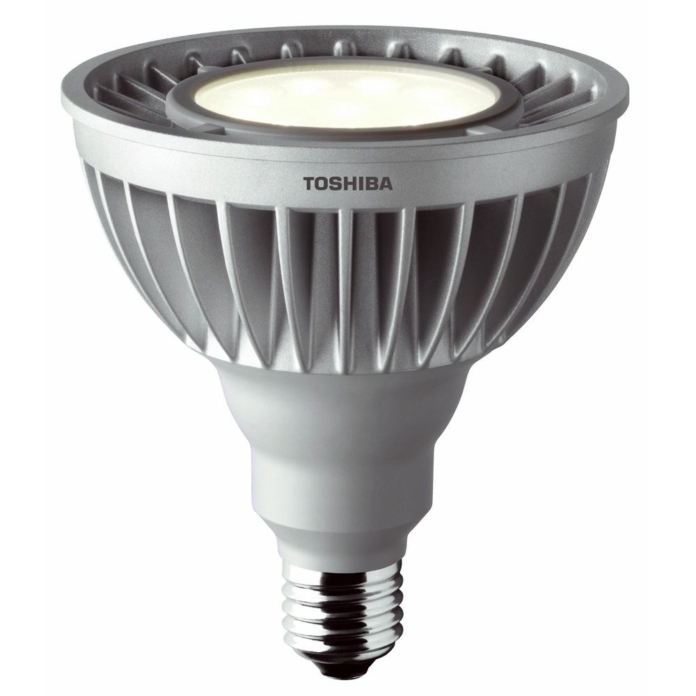 toshiba led 18 8w 100w e27 par38 bulb cool white 6500k 980lm 35 dimmable ebay. Black Bedroom Furniture Sets. Home Design Ideas