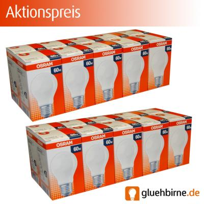 20 x osram gl hbirne 60w e27 matt gl hlampe gl hbirnen gl hlampen 60 watt. Black Bedroom Furniture Sets. Home Design Ideas
