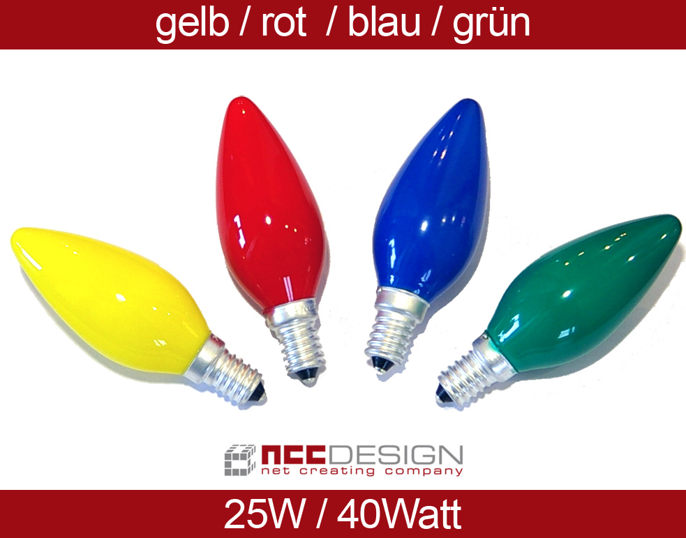 Bulbs Candles colourful 25W 40W E14 Lightbulb red green blue yellow  eBay