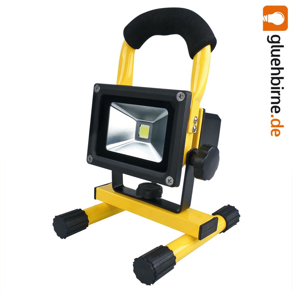 led akku strahler 10w handlampe arbeitsleuchte baustrahler ip65 fluter baulicht ebay. Black Bedroom Furniture Sets. Home Design Ideas