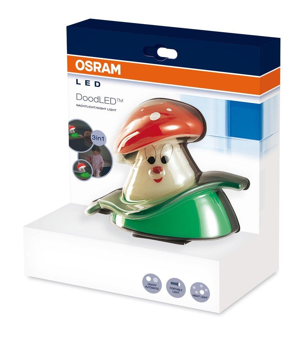 osram dood led nachtlicht mit taschenlampe pilz design nachtlampe licht 46628 ebay. Black Bedroom Furniture Sets. Home Design Ideas