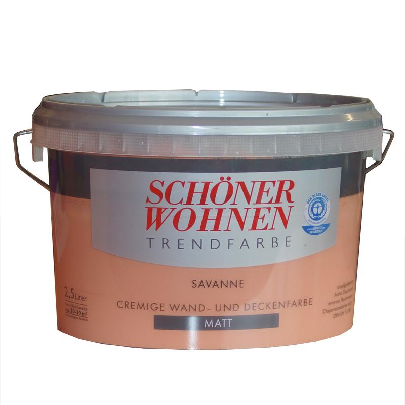 2 5 liter sch ner wohnen savanne matt farbe wandfarbe deckenfarbe trendfarbe ebay - Wandfarbe savanne ...