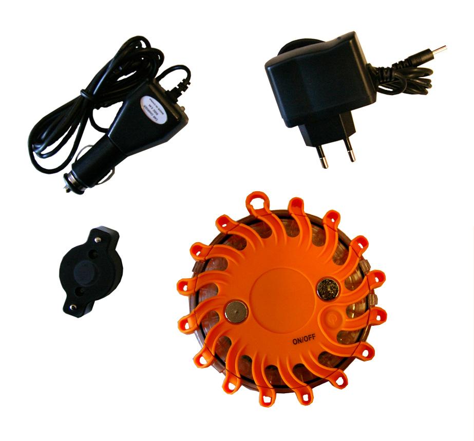 led batterie t moin rechargeable orange feu d 39 avertissement gyrophare radars ebay. Black Bedroom Furniture Sets. Home Design Ideas
