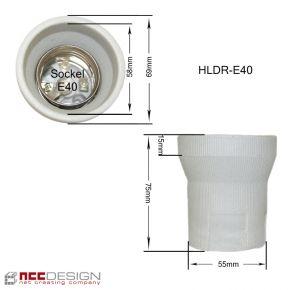 Fassung Porzellan Keramik E14 E27 E40 Sockel LED Bügel Winkel Lampenfassung