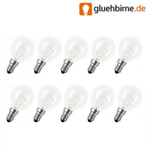 10x Tropfen Glühbirne 25W E14 klar Glühlampe 25 Watt Glühbirnen Glühlampen Narva