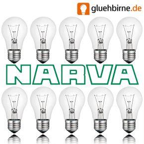 10 x Narva Glühbirne 40W E27 klar Glühlampe 40 Watt Glühbirnen Glühlampen Birnen