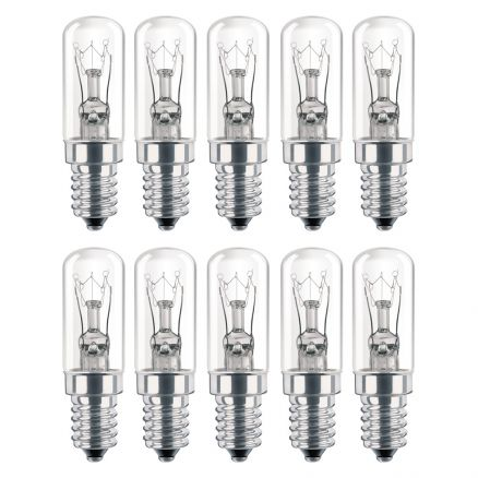 10 x philips bulbs t17x54mm 7w e14 clear 230 240v tube. Black Bedroom Furniture Sets. Home Design Ideas