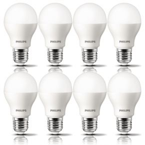 8 x Philips LED Glühbirne 5,5W = 32W warmweiß 2700K 350lm E27 Sparlampe Birnen
