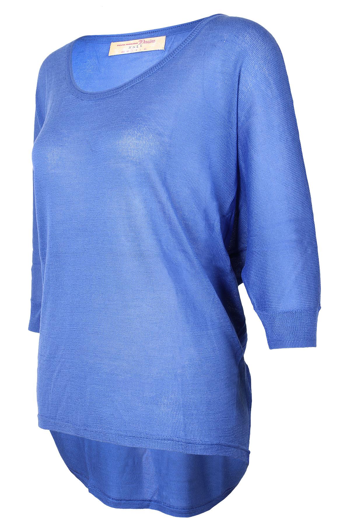 tom tailor denim damen pullover solid jumper blau uvp 39. Black Bedroom Furniture Sets. Home Design Ideas