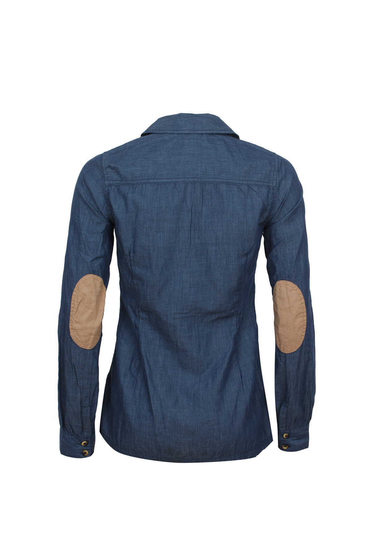 tom tailor damen jeans bluse chambray patches 2017157 ebay. Black Bedroom Furniture Sets. Home Design Ideas