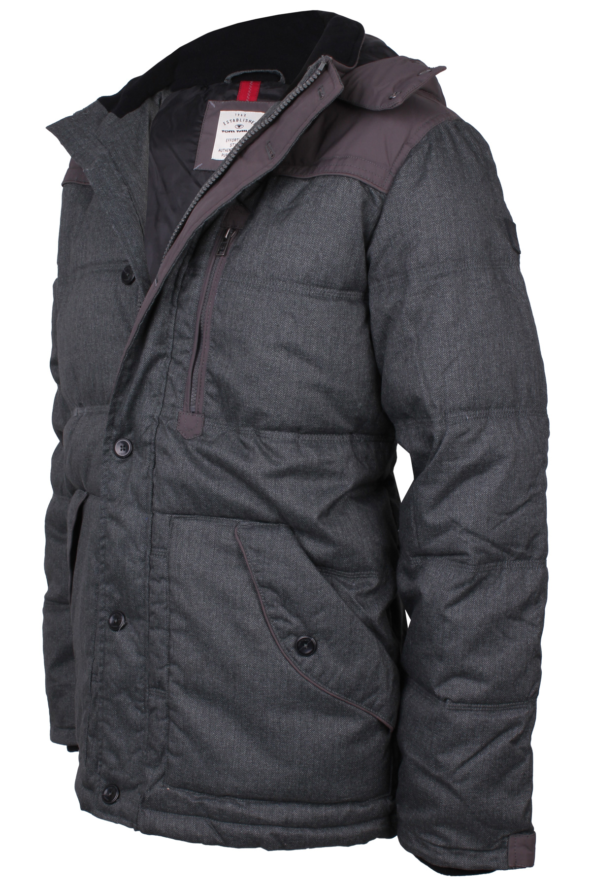 tom tailor herren jacke 35202840010 fabric mix 2505 grau. Black Bedroom Furniture Sets. Home Design Ideas