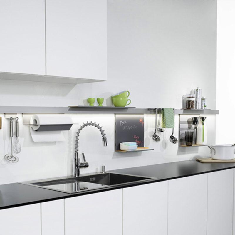 linero mosaiq memoboard titangrau design relingsystem k che ebay. Black Bedroom Furniture Sets. Home Design Ideas