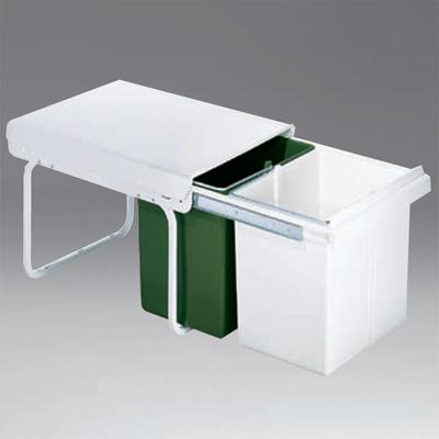 wesco einbau abfallsammler master boy 40 dt weiss gr n m lleimer neu abfalleimer ebay. Black Bedroom Furniture Sets. Home Design Ideas