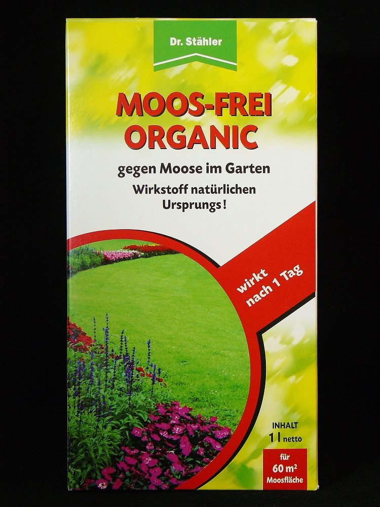 dr st hler moos frei organic 1 liter gegen moos moosvernichter konzentrat ebay. Black Bedroom Furniture Sets. Home Design Ideas