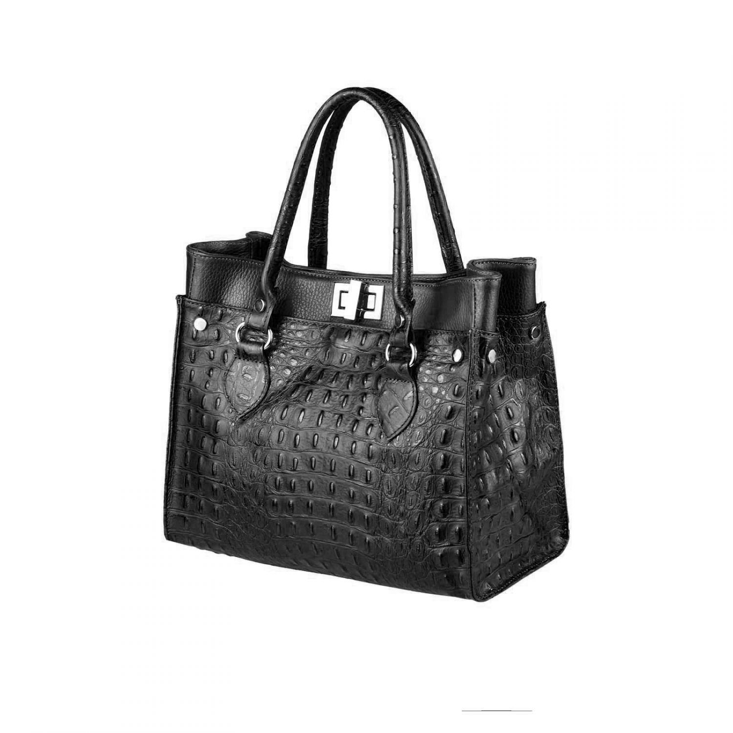 ital damen leder tasche business shopper handtasche echtleder henkeltasche bag ebay. Black Bedroom Furniture Sets. Home Design Ideas