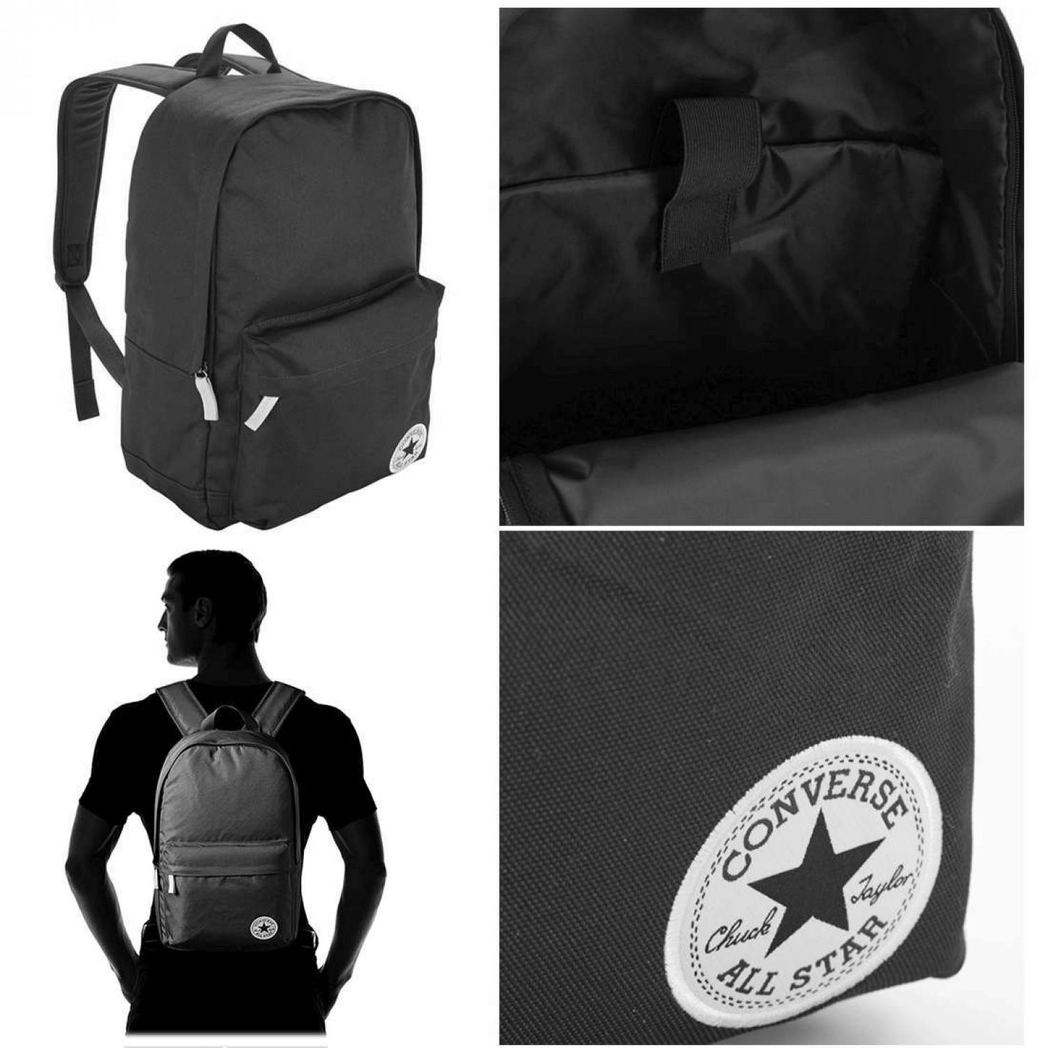 bcc1d6913c7 UNISEX CONVERSE city bag core poly ALL STAR city backpack adults children  day Pack backpack carry-on Star Chuck Taylor bag 25-29 litres