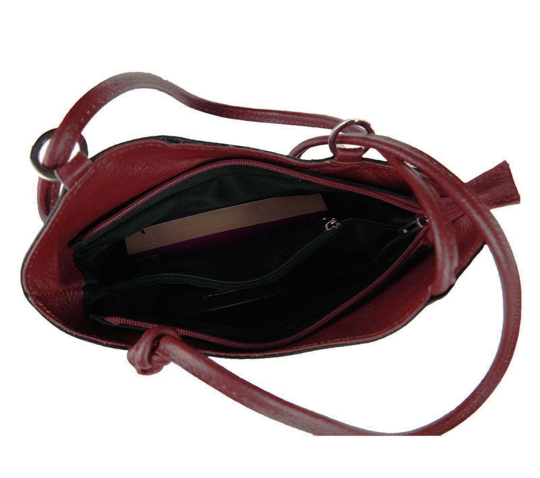italy damen leder tasche 2in1 rucksack schultertasche handtasche henkeltasche ebay. Black Bedroom Furniture Sets. Home Design Ideas