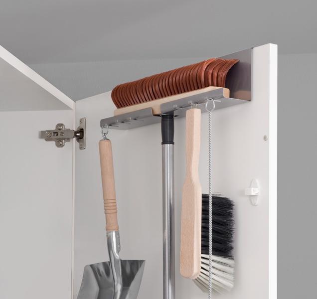 besenhalter besen haken ebay. Black Bedroom Furniture Sets. Home Design Ideas
