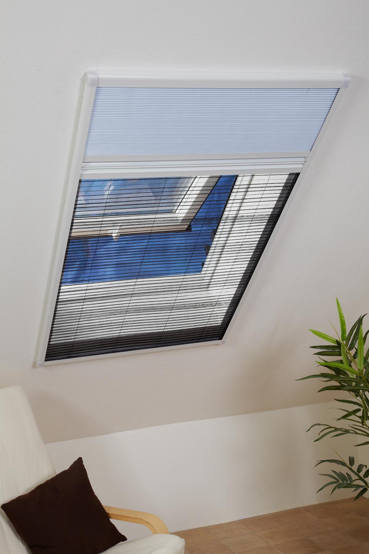 kombi dachfenster plissee sonnenschutz fliegengitter. Black Bedroom Furniture Sets. Home Design Ideas