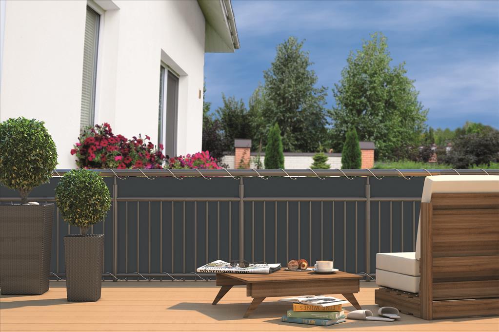 balkon sichtschutz sichtschutzplane f r balkon gel nder. Black Bedroom Furniture Sets. Home Design Ideas
