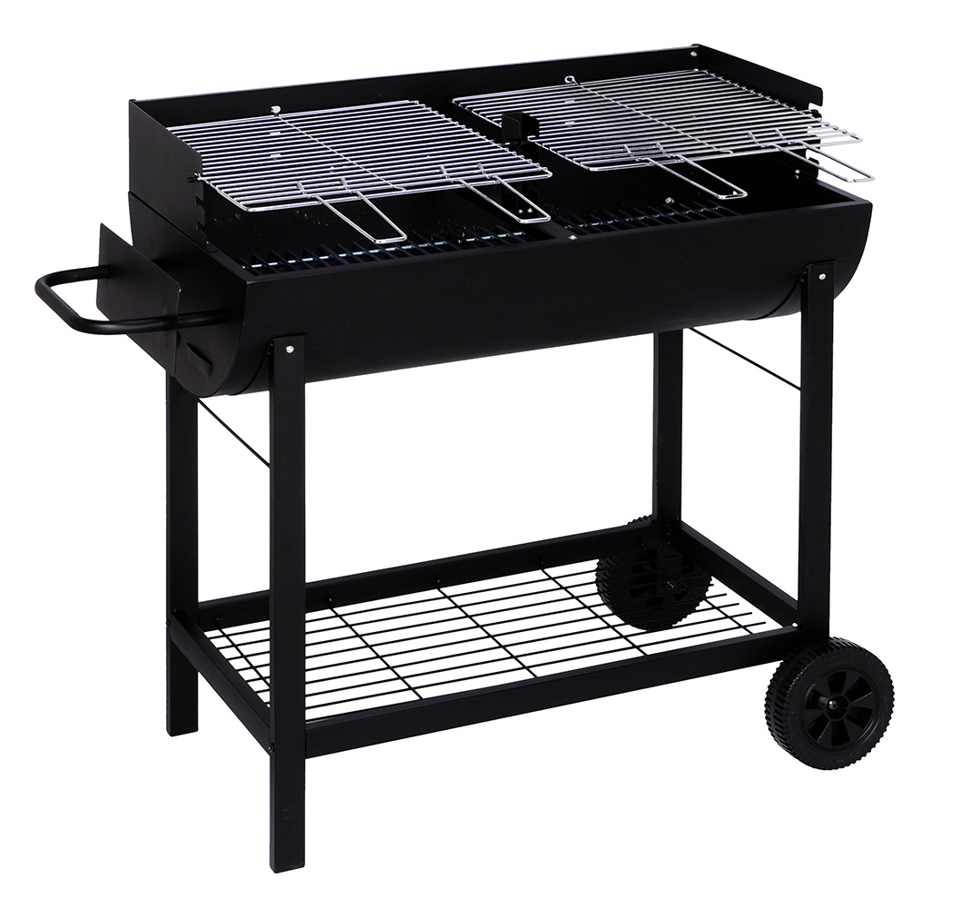 partygrill xxl holzkohlegrill stabil fahrbar grill grillwagen kohlegrill eisen ebay. Black Bedroom Furniture Sets. Home Design Ideas