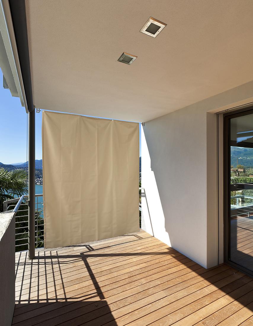 balkon sichtschutz vertikal balkonsichtschutz sonnenschutz sonnensegel mit seil ebay. Black Bedroom Furniture Sets. Home Design Ideas