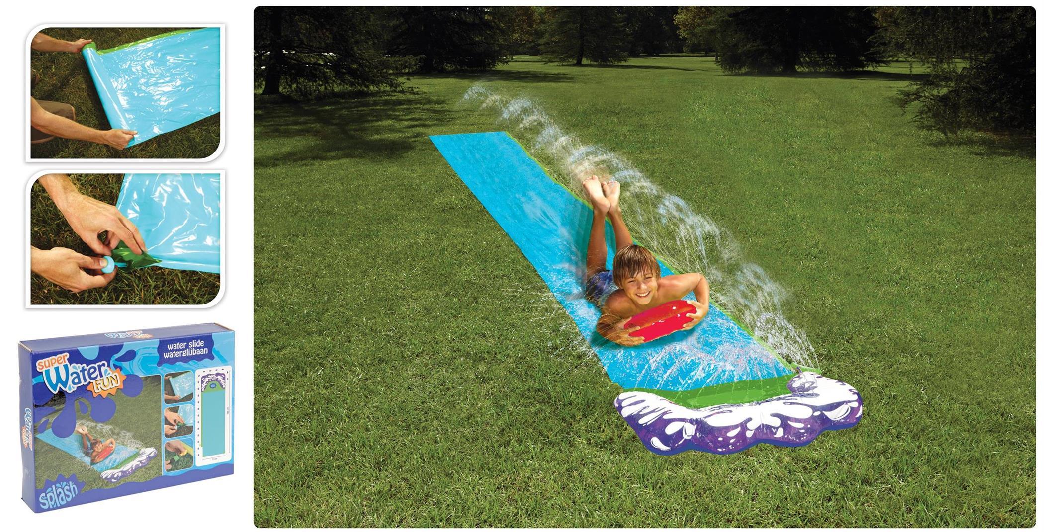 kinder wasserrutsche mit sprinkler f r wiese wasserspa. Black Bedroom Furniture Sets. Home Design Ideas