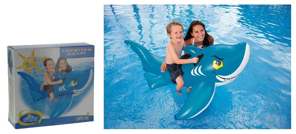 Hai aufblasbar schwimmtier aufblastier badespielzeug f r for Badepool aufblasbar