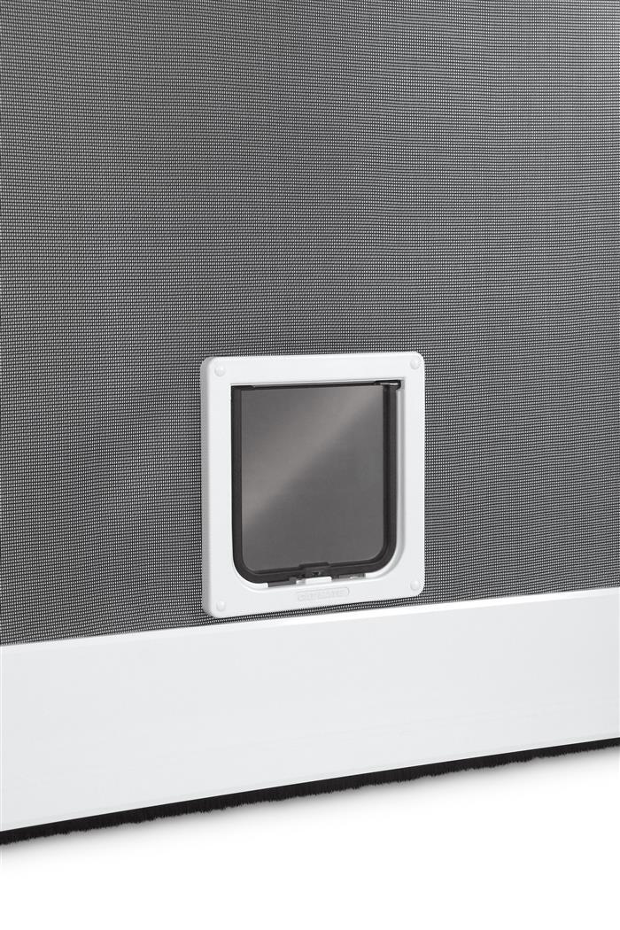 4 wege katzenklappe f r fliegengitter t ren und fenster insektenschutzt r katze ebay. Black Bedroom Furniture Sets. Home Design Ideas