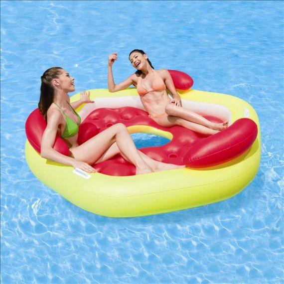 bestway designer pool lounge luftmatratze badeinsel strand wasser pool ebay. Black Bedroom Furniture Sets. Home Design Ideas
