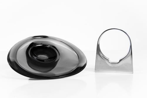 keuco ablageschale seifenschale seifenablage ablage schale glas neu ebay. Black Bedroom Furniture Sets. Home Design Ideas