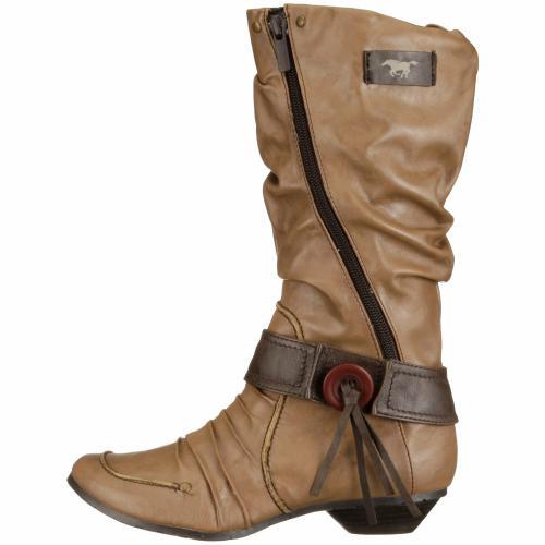 mustang shoes damen kinder m dchen stiefel western braun. Black Bedroom Furniture Sets. Home Design Ideas