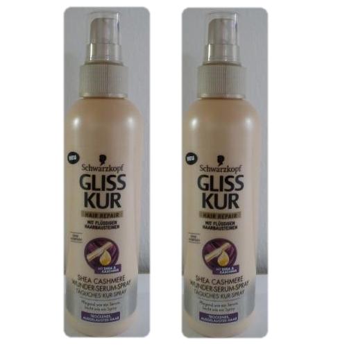 24 75eur1l 2x schwarzkopf gliss kur hair repair shea cashmere wunder serum spray ebay. Black Bedroom Furniture Sets. Home Design Ideas