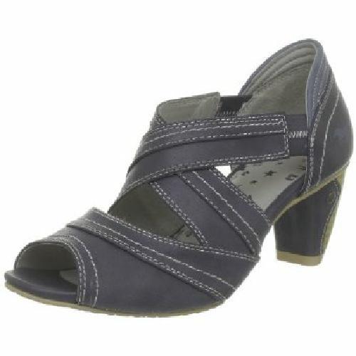 mustang shoes damen sling pumps schuhe dunkelblau mit absatz 6 5 cm gr 36 41 ebay. Black Bedroom Furniture Sets. Home Design Ideas