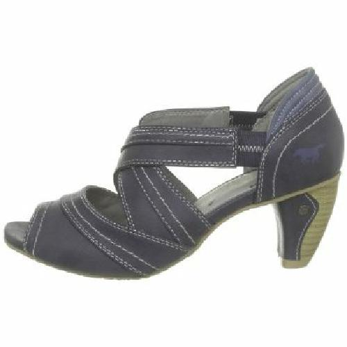 mustang shoes damen sling pumps schuhe dunkelblau mit. Black Bedroom Furniture Sets. Home Design Ideas