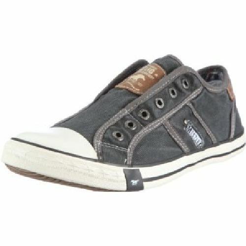 mustang shoes herren slipper schuhe sneaker ohne schn rsenkel grau gr 41 45 ebay. Black Bedroom Furniture Sets. Home Design Ideas