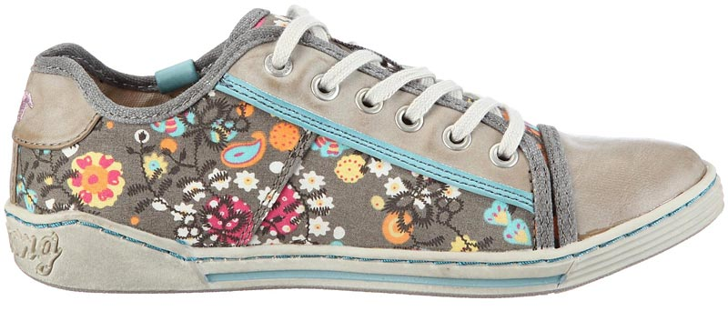 mustang m dchen sneaker mit blumenmuster multi t rks flower power damen schuhe ebay. Black Bedroom Furniture Sets. Home Design Ideas