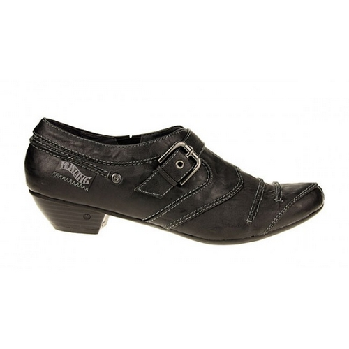 mustang shoes damen pumps in schwarz frauen schuhe flach. Black Bedroom Furniture Sets. Home Design Ideas