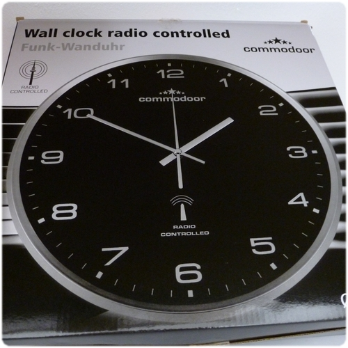 commodoor funk wanduhr k che k chenuhr funkuhr quartz 33 cm neu radio controlled ebay. Black Bedroom Furniture Sets. Home Design Ideas