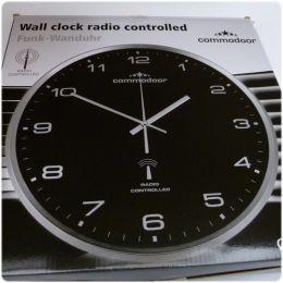 commodoor funk wanduhr k che k chenuhr funkuhr quartz 33 cm neu radio controlled ebay. Black Bedroom Furniture Sets. Home Design Ideas