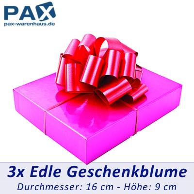 3 stk rote geschenk band b gen verzierung deko rosetten blumen ebay. Black Bedroom Furniture Sets. Home Design Ideas