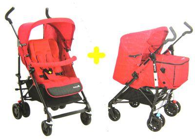 safety 1st kinderwagen easy way komfort set mit softtragetasche rot aj925. Black Bedroom Furniture Sets. Home Design Ideas