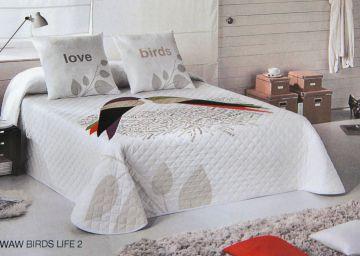 wild about words stepp tagesdecke vogel motiv 240 x 260 cm. Black Bedroom Furniture Sets. Home Design Ideas