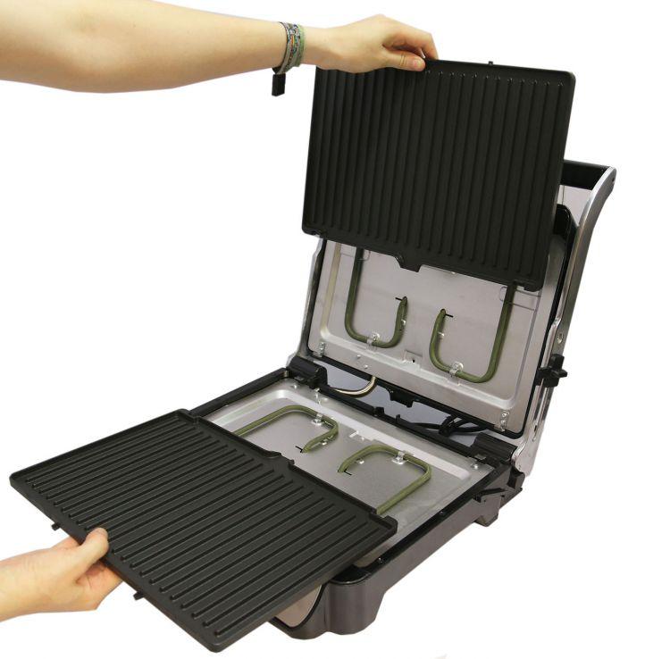 dms kg04 kontaktgrill xxl elektrogrill tisch grill. Black Bedroom Furniture Sets. Home Design Ideas