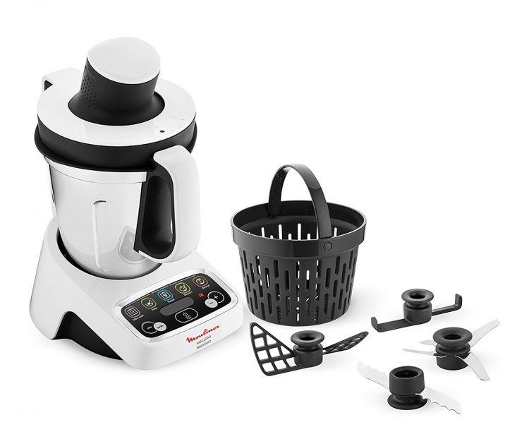 Moulinex volupta robot de cuisine multifonction 1000 w 3 l for Robot cuisine multifonction moulinex
