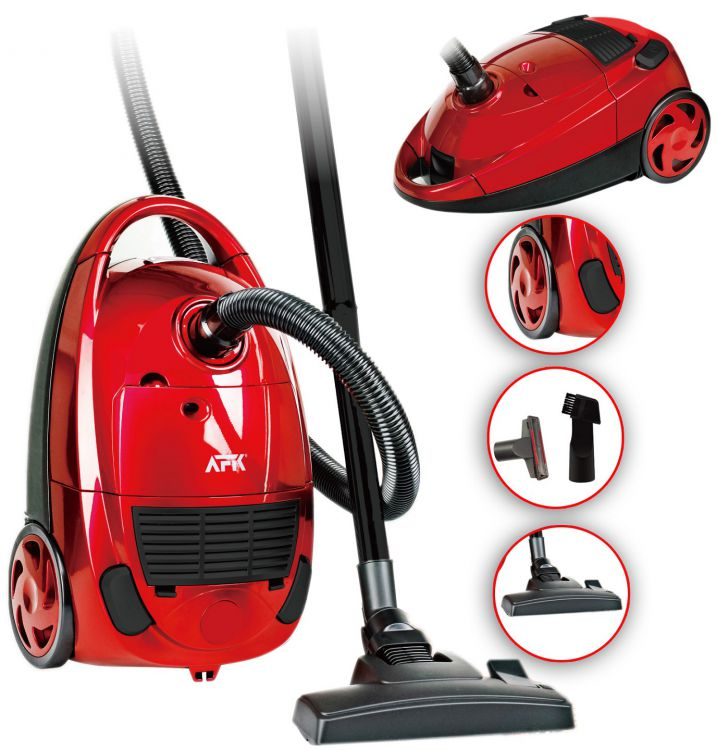 afk vacuum staubsauger bs bodenstaubsauger 1600 watt rot ng706 c ebay. Black Bedroom Furniture Sets. Home Design Ideas